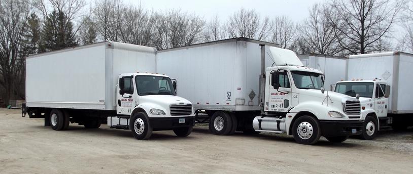 Valley Drum delivery trucks